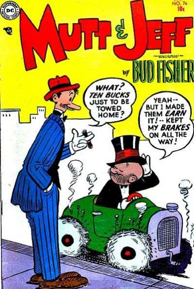 Mutt and Jeff #76 comic books - cover scans photos Mutt and Jeff #76 comic books - covers, picture gallery