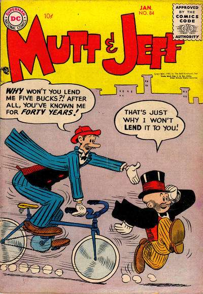 Mutt and Jeff #84 comic books - cover scans photos Mutt and Jeff #84 comic books - covers, picture gallery