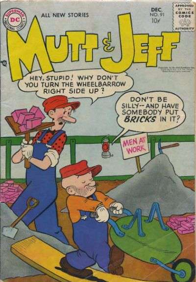 Mutt and Jeff #91 comic books - cover scans photos Mutt and Jeff #91 comic books - covers, picture gallery
