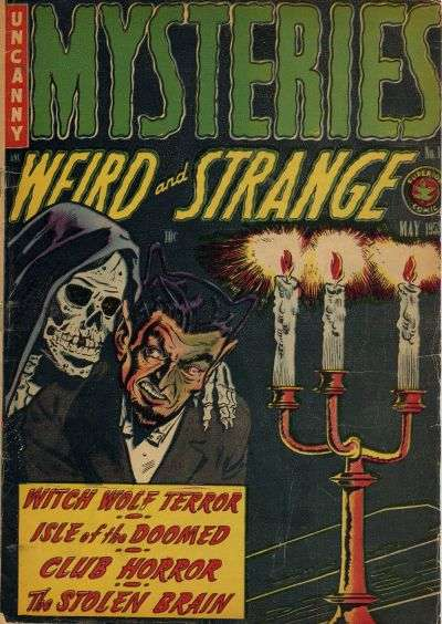 Mysteries Weird & Strange comic books