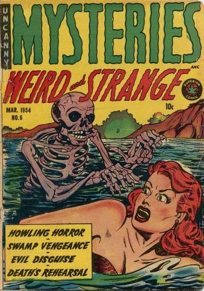 Mysteries Weird & Strange #6 comic books - cover scans photos Mysteries Weird & Strange #6 comic books - covers, picture gallery