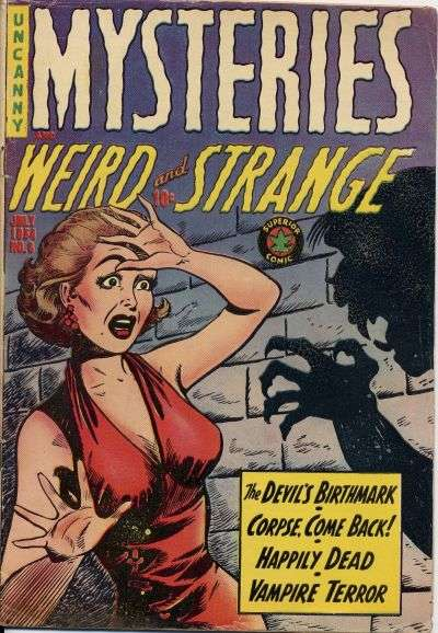 Mysteries Weird & Strange #8 comic books - cover scans photos Mysteries Weird & Strange #8 comic books - covers, picture gallery