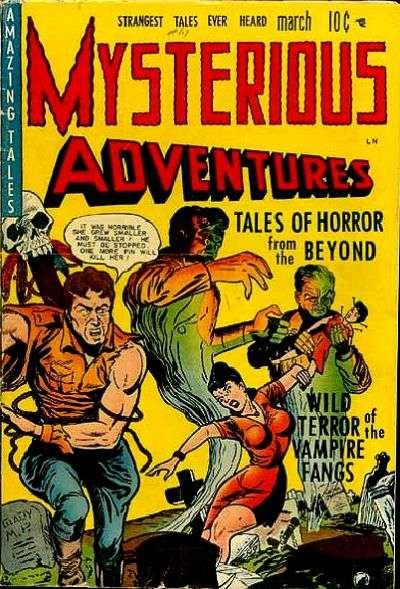Mysterious Adventures Comic Books. Mysterious Adventures Comics.