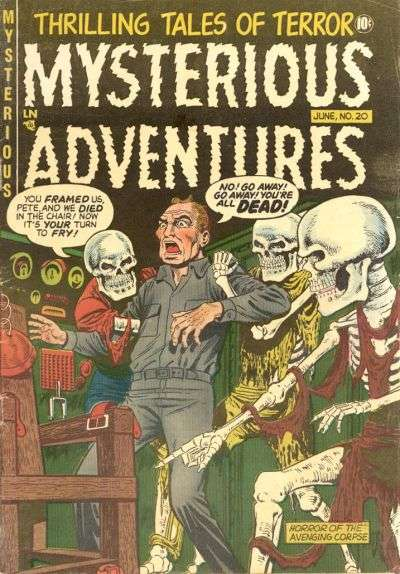 Mysterious Adventures #20 comic books - cover scans photos Mysterious Adventures #20 comic books - covers, picture gallery