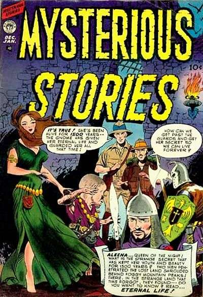 Mysterious Stories Comic Books. Mysterious Stories Comics.