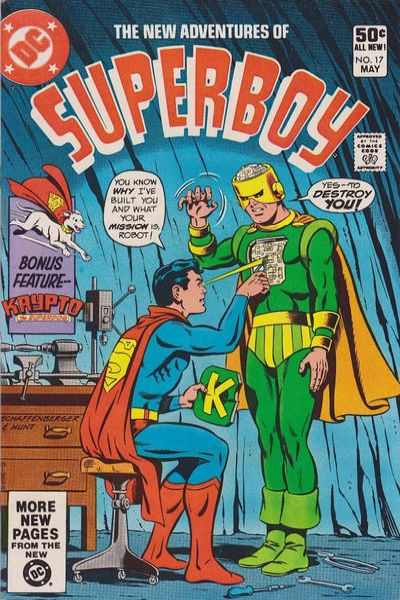 New Adventures of Superboy #17 Comic Books - Covers, Scans, Photos  in New Adventures of Superboy Comic Books - Covers, Scans, Gallery