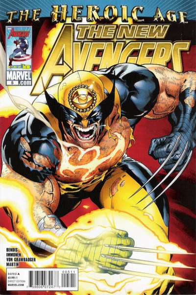 New Avengers #5 Comic Books - Covers, Scans, Photos  in New Avengers Comic Books - Covers, Scans, Gallery