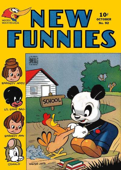 New Funnies #92 comic books for sale