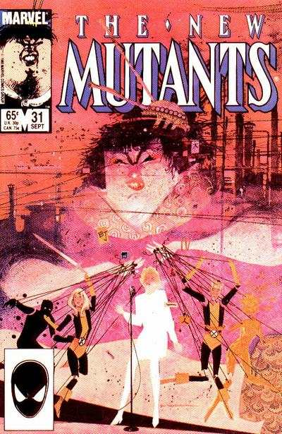 New Mutants #31 comic books - cover scans photos New Mutants #31 comic books - covers, picture gallery