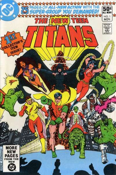 New Teen Titans #1 comic books - cover scans photos New Teen Titans #1 comic books - covers, picture gallery