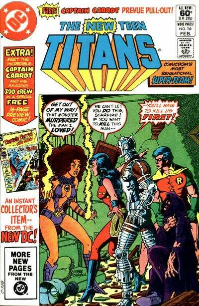 New Teen Titans #16 comic books - cover scans photos New Teen Titans #16 comic books - covers, picture gallery