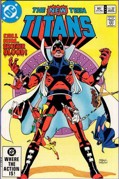 New Teen Titans #22 comic books - cover scans photos New Teen Titans #22 comic books - covers, picture gallery