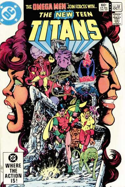 New Teen Titans #24 comic books - cover scans photos New Teen Titans #24 comic books - covers, picture gallery