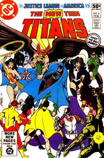 New Teen Titans #4 comic books - cover scans photos New Teen Titans #4 comic books - covers, picture gallery