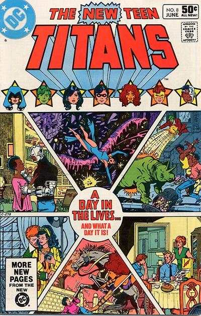 New Teen Titans #8 comic books - cover scans photos New Teen Titans #8 comic books - covers, picture gallery