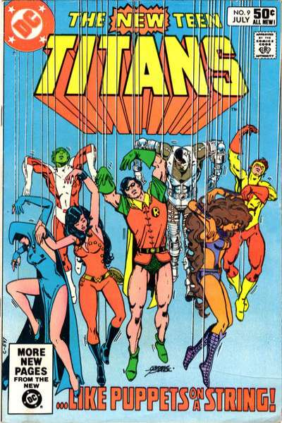 New Teen Titans #9 comic books - cover scans photos New Teen Titans #9 comic books - covers, picture gallery