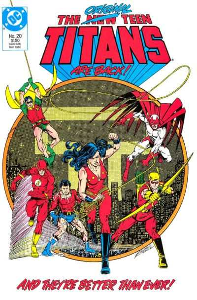 New Teen Titans #20 comic books - cover scans photos New Teen Titans #20 comic books - covers, picture gallery
