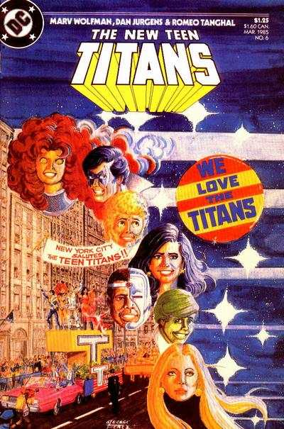 New Teen Titans #6 comic books - cover scans photos New Teen Titans #6 comic books - covers, picture gallery