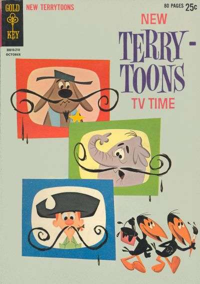 New Terrytoons #1 comic books - cover scans photos New Terrytoons #1 comic books - covers, picture gallery