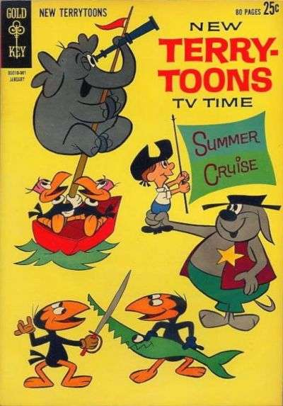 New Terrytoons #2 comic books - cover scans photos New Terrytoons #2 comic books - covers, picture gallery