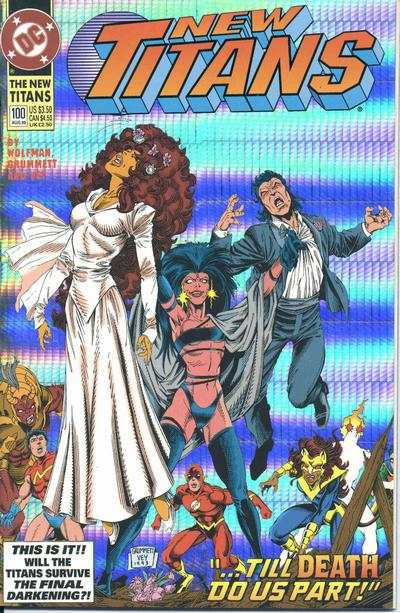 New Titans #100 comic books - cover scans photos New Titans #100 comic books - covers, picture gallery