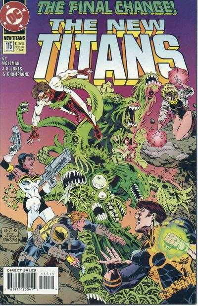New Titans #115 Comic Books - Covers, Scans, Photos  in New Titans Comic Books - Covers, Scans, Gallery