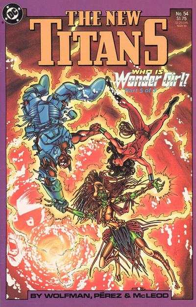 New Titans #54 comic books for sale