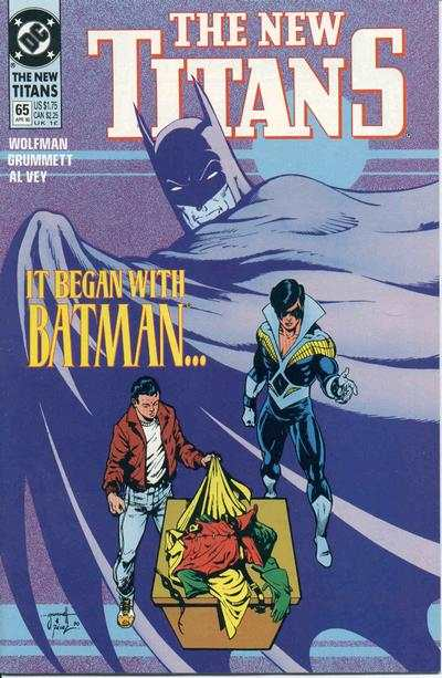 New Titans #65 Comic Books - Covers, Scans, Photos  in New Titans Comic Books - Covers, Scans, Gallery