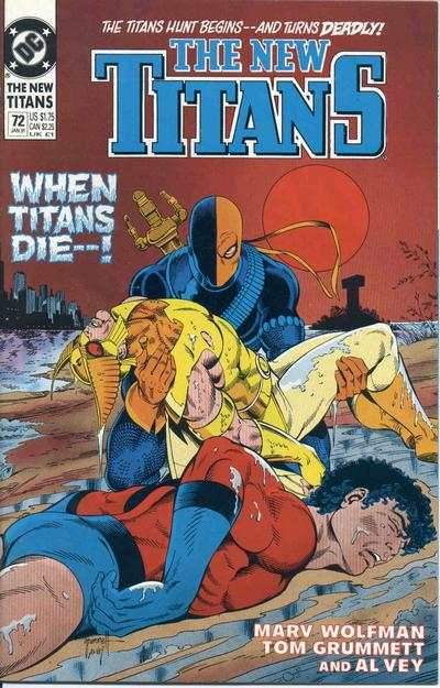 New Titans #72 comic books - cover scans photos New Titans #72 comic books - covers, picture gallery
