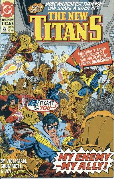 New Titans #75 comic books - cover scans photos New Titans #75 comic books - covers, picture gallery