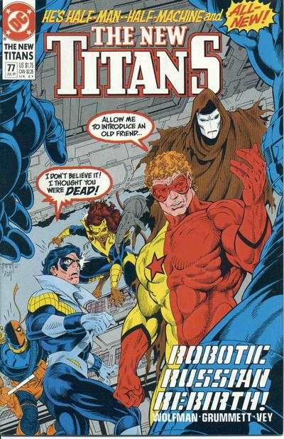 New Titans #77 comic books - cover scans photos New Titans #77 comic books - covers, picture gallery