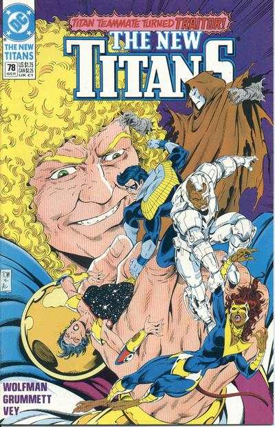 New Titans #78 comic books - cover scans photos New Titans #78 comic books - covers, picture gallery