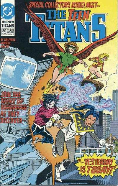New Titans #80 comic books - cover scans photos New Titans #80 comic books - covers, picture gallery