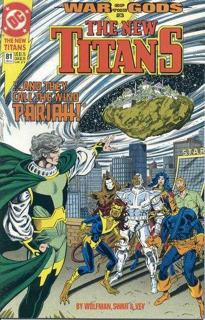 New Titans #81 comic books - cover scans photos New Titans #81 comic books - covers, picture gallery