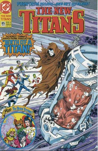 New Titans #85 comic books - cover scans photos New Titans #85 comic books - covers, picture gallery