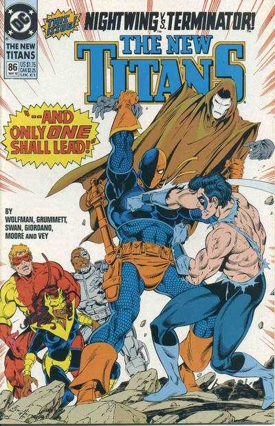 New Titans #86 comic books - cover scans photos New Titans #86 comic books - covers, picture gallery