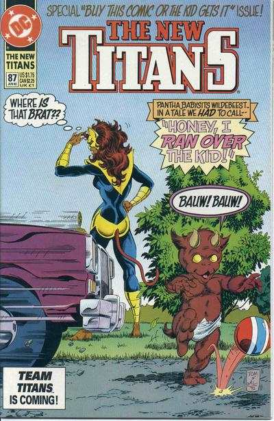 New Titans #87 comic books - cover scans photos New Titans #87 comic books - covers, picture gallery