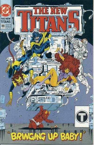New Titans #88 comic books - cover scans photos New Titans #88 comic books - covers, picture gallery