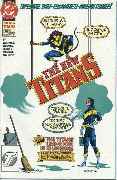 New Titans #89 comic books - cover scans photos New Titans #89 comic books - covers, picture gallery