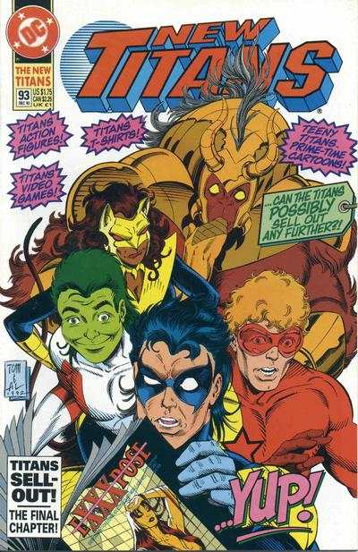New Titans #93 comic books - cover scans photos New Titans #93 comic books - covers, picture gallery