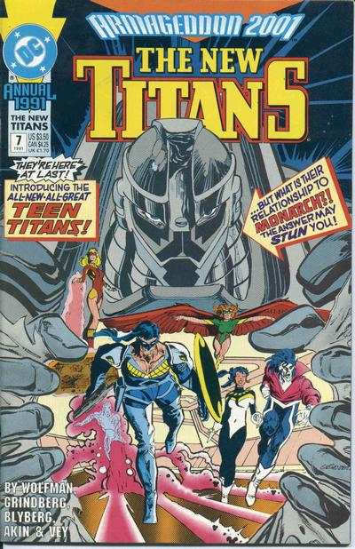 New Titans #7 comic books - cover scans photos New Titans #7 comic books - covers, picture gallery