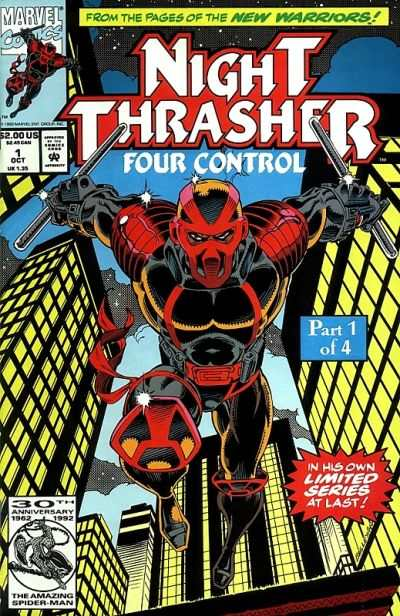 Night Thrasher: Four Control # comic book complete sets Night Thrasher: Four Control # comic books