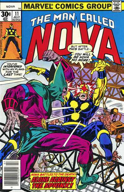 Nova #11 comic books - cover scans photos Nova #11 comic books - covers, picture gallery