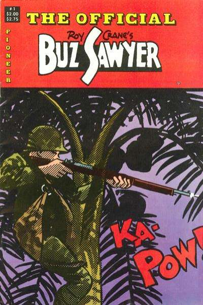 Official Buz Sawyer #1 comic books - cover scans photos Official Buz Sawyer #1 comic books - covers, picture gallery
