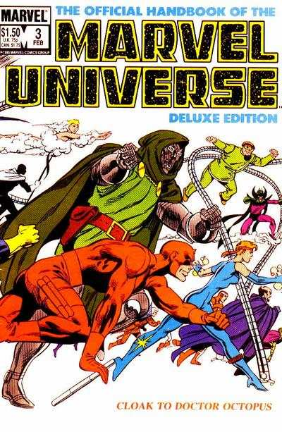 Official Handbook of the Marvel Universe #3 comic books - cover scans photos Official Handbook of the Marvel Universe #3 comic books - covers, picture gallery
