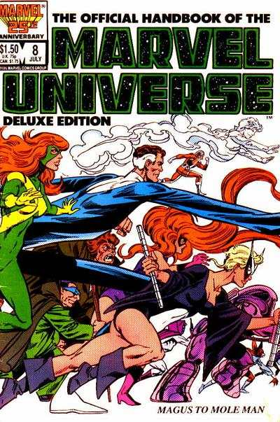 Official Handbook of the Marvel Universe #8 comic books - cover scans photos Official Handbook of the Marvel Universe #8 comic books - covers, picture gallery