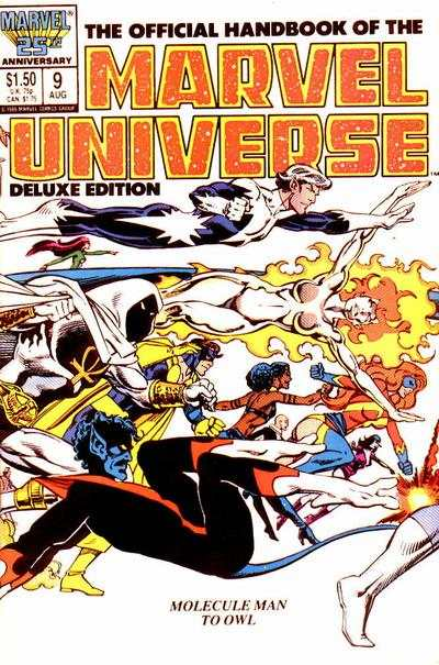 Official Handbook of the Marvel Universe #9 Comic Books - Covers, Scans, Photos  in Official Handbook of the Marvel Universe Comic Books - Covers, Scans, Gallery
