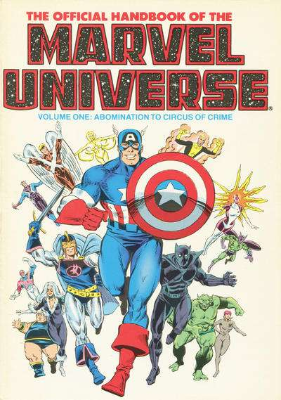 Official Handbook of the Marvel Universe #1 comic books - cover scans photos Official Handbook of the Marvel Universe #1 comic books - covers, picture gallery