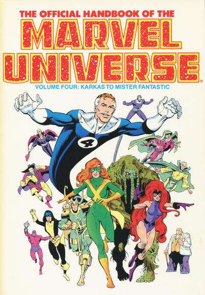 Official Handbook of the Marvel Universe #4 comic books - cover scans photos Official Handbook of the Marvel Universe #4 comic books - covers, picture gallery