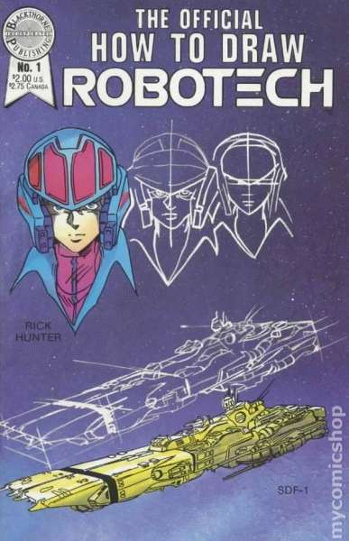 Official How to Draw Robotech comic books